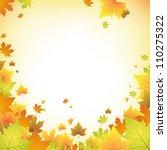 autumn background   Shutterstock .eps vector #110275322