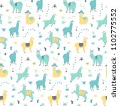 vector seamless pattern with... | Shutterstock .eps vector #1102775552