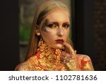 women face skin care. portrait...   Shutterstock . vector #1102781636