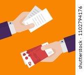 flat design of exchange bill... | Shutterstock .eps vector #1102794176