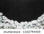 fresh white roses on the black  ... | Shutterstock . vector #1102794455