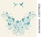 vector background with garland... | Shutterstock .eps vector #110279822