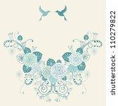 vector background with garland...   Shutterstock .eps vector #110279822
