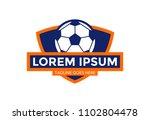 unique soccer badge logo vector ...   Shutterstock .eps vector #1102804478