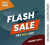 flash sale poster  banner ... | Shutterstock .eps vector #1102815665