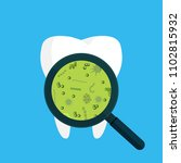 bacteria on a human white tooth ... | Shutterstock .eps vector #1102815932