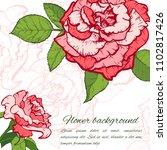 vintage rose. hand drawn vector ... | Shutterstock .eps vector #1102817426