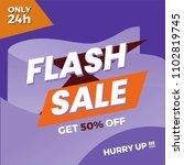 flash sale poster  banner ... | Shutterstock .eps vector #1102819745
