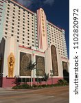 Small photo of Shreveport, Louisiana - February 18, 2012: Eldorado Hotel and Casino located in Shreveport Louisiana nar the Red River