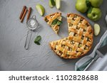 composition with tasty homemade ... | Shutterstock . vector #1102828688
