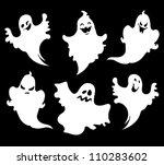 set of halloween  ghosts for... | Shutterstock .eps vector #110283602