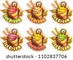 ice cream emblems | Shutterstock .eps vector #1102837706