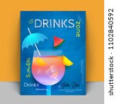 beverage recipe book cover... | Shutterstock .eps vector #1102840592