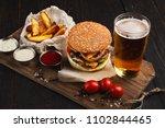 fast food restaurant dish.... | Shutterstock . vector #1102844465