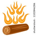 symbol of abstract fire. | Shutterstock .eps vector #1102846286