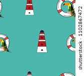 travel seamless pattern with... | Shutterstock .eps vector #1102867472