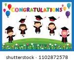 congratulated kids graduate... | Shutterstock .eps vector #1102872578