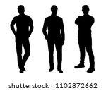 silhouette of men. business | Shutterstock .eps vector #1102872662