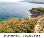 aerial view of the path of... | Shutterstock . vector #1102875455