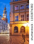poznan  great poland  poland  ... | Shutterstock . vector #1102876382