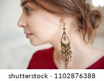 portrait of a beautiful woman... | Shutterstock . vector #1102876388