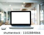 conceptual workspace empty... | Shutterstock . vector #1102884866