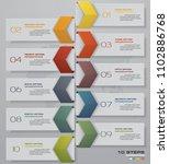 10 steps timeline infographic... | Shutterstock .eps vector #1102886768