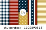 stars and stripes ornaments ... | Shutterstock .eps vector #1102890515