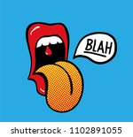 pop art vector speaking red... | Shutterstock .eps vector #1102891055