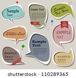 vector set of multicolored... | Shutterstock .eps vector #110289365