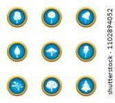 lush tree icons set. flat set... | Shutterstock .eps vector #1102894052
