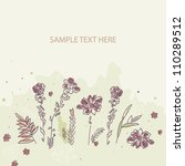 card with a floral background | Shutterstock .eps vector #110289512