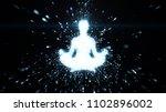 meditating female figure... | Shutterstock . vector #1102896002
