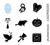 holidays glyph icons set. dia... | Shutterstock .eps vector #1102900205