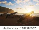 sunset through cannons in saint ... | Shutterstock . vector #1102900562