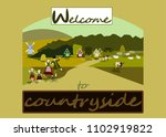 welcome to countryside.summer ... | Shutterstock .eps vector #1102919822