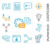 set of 13 icons such as file ...