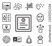 set of 13 icons such as... | Shutterstock .eps vector #1102921106