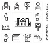 set of 13 icons such as capitol ...