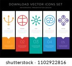 5 vector icons such as neptune  ... | Shutterstock .eps vector #1102922816