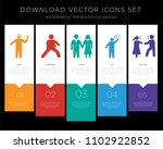 5 vector icons such as man with ... | Shutterstock .eps vector #1102922852