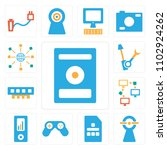set of 13 icons such as music...