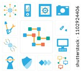 set of 13 icons such as... | Shutterstock .eps vector #1102924406
