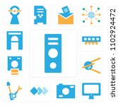 set of 13 icons such as speaker ...