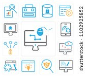 set of 13 icons such as graphic ...