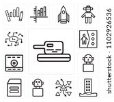 set of 13 icons such as tank ...