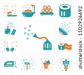 set of 13 icons such as vacuum...