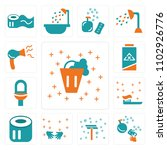 set of 13 icons such as bucket  ...