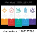 5 vector icons such as agnostic ...   Shutterstock .eps vector #1102927886