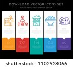 5 vector icons such as roles...   Shutterstock .eps vector #1102928066